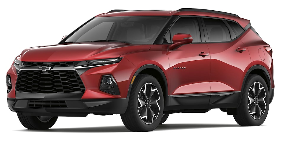 Chevrolet Blazer 2019 SUV color rojo escarlata